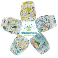 Blümchen diaper cover OneSize PUL YKK Hook Designs 2018*