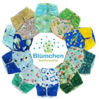 Blümchen All-in-One Bamboo OneSize Snap (3,5-15kg) watercolor Edition