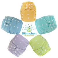 Blümchen All-in-One Bamboo OneSize Snap (3,5-15kg) pastels (Made in Turkey)