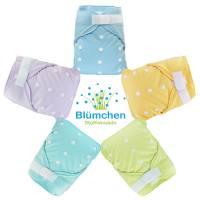 Blümchen Slimfit diaper cover OneSize without gusset plain color