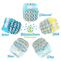 Blümchen All-in-One Bamboo OneSize Hook and Loop (3,5-15kg) Geometric Designs